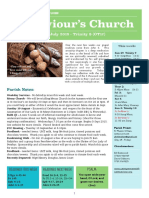 st saviours newsletter - 29 july 2018