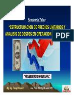 Presentacion General Del Seminario (04-Jun-13) -  COSTOS