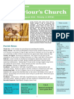st saviours newsletter - 12 august 2018