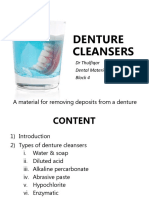 5. Denture Cleansers