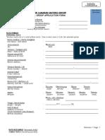 Form Data Pelamar 2018