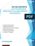 HIPÓTESES DA ESCRITA -ATIVIDADES FAVORÁVEIS PARA QUE O ALUNO AVANCE NA ESCRITA.pptx