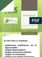 CLASE 1 DE TRIGONOMETRÍA