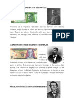 Personajes de Los Billetes de Guatemala
