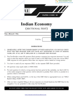 Prelims Test 23 and Solutions - Economy