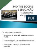 Movimentos Sociais e Educação