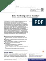 Fetal Alcohol Spectrum Disorders