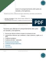 20170505 GV033 Factores Que Afectan El Comportamiento de Taludes y Terraplenes - Resistencia - Agua Subterranea - Sismicidad