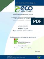 Manual Bancada de Destilação