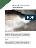 Efectos de La Contaminación Del Aire en La Salud y El Medio Ambiente