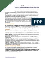 NC16 Présentation Des EF Des OPCVM