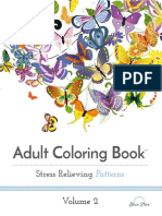 Adult Coloring Book - Stress Relieving Patterns - Volume 2