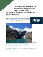 La Desaparición de Los Glaciares