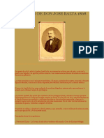 Gobierno de Don Jose Balta 1868 1872