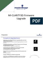 MI-CLARITY3D Firmware Upgrade