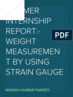 Weight Measurement by Using Strain Gauge