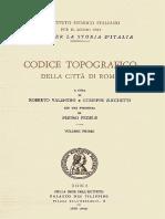 Codice Topografico Della Città Di Roma-Vol1