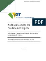 Analise Tecnica Em Produto de Higiene