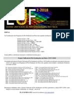 Edital Exame Unificado de Física EUF 2018.2