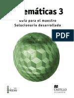 Matemáticas 3 Guía para el maestro Solucionario desarrollado