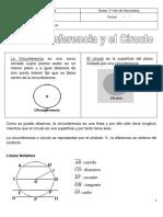 Tema 22 Círculo y Circunferencia.