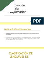 Introducción a La Programación(Clase 1)