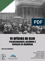 VI Oficios de Clio  2017 - livro