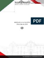Mensaje Presidencial de Martín Vizcarra