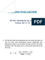 Primer Examen de Ventilación de Minas 2012