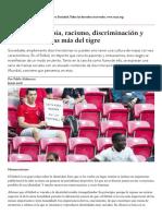 Alabarces (2018) Fútbol, xenofobia, racismo, discriminación y algunas manchas más del tigre _ Nueva Sociedad.pdf
