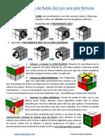 Resolver El Cubo de Rubik 2x2 Con Una Sola Formula