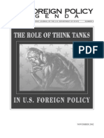 Role of Think Tanks in Usfp