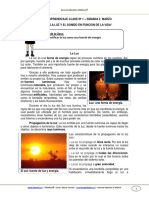GUIA CNATURALES 3BASICO SEMANA2 La Luz y El Sonido en Funcion de La Vida MARZO 2013