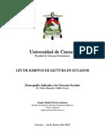 Ley de Hábitos de Lectura en Ecuador