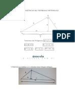 Relacoes Metricas Triangulo Retangulo