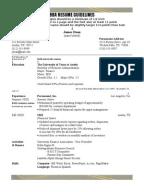 Bba Resume Format Doc