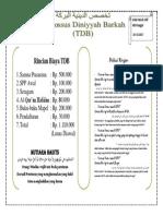 rincian biaya TDB