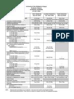 UP academic calendar