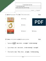 1 Basico Ingles Mineduc Unidad 8 Prueba 2