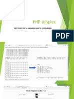 PHP Simplex Trabajo Del Instructor Licero Elizabeth Lopez Arrieta