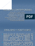 TENDENCIAS DE LA FILOSOFÍA CONTEMPORÁNEA