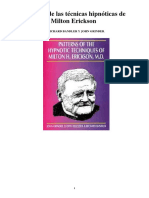 Patrones de las técnicas hipnóticas de Milton Erickson - Richard Bandler
