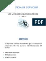 Mínimos Requeridos y Diseño Del Servicio
