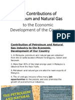 The Contributions of Petroleum and Natural Gas