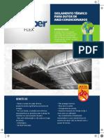 Isolamento Termico para dutos de Ares-Condicionados Altemburg