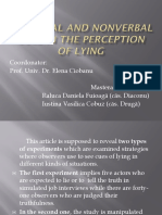 Verbal and Nonverbal Cues in the Perception of Lying