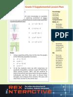 Supplemental Math High School Grade 9 Q1