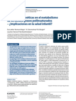 Variaciones Genéticas en El Metabolismo de Los Ácidos Grasos Poliinsaturados