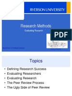 Evaluating Research