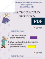 Expectation Setting